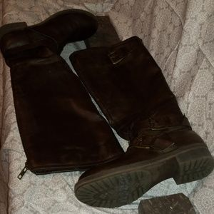 Madden Girl Chocolate Brown Knee Length Boots
